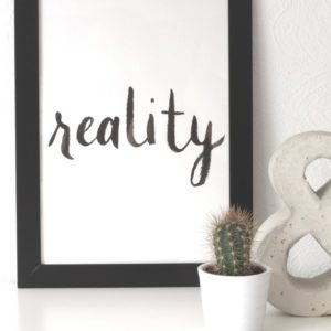 """Poster """"reality"""""""