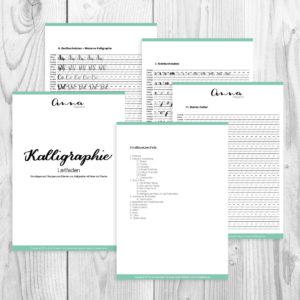 Kalligraphie-Leitfaden-Bild-Uebersicht