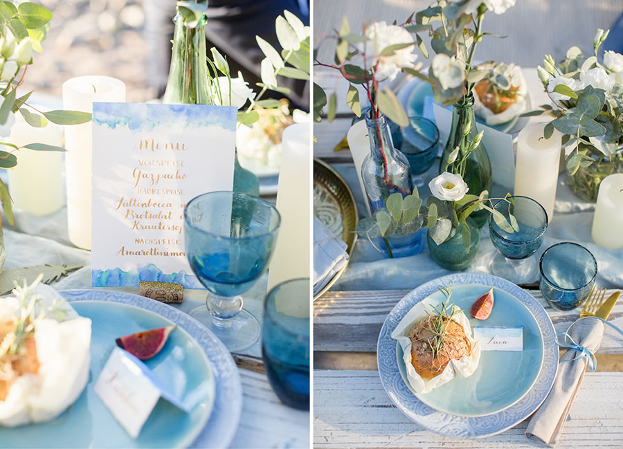 Inspirationsshooting – Boho Vibes in Blau und Gold